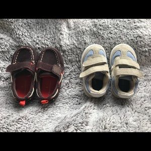 Two Pairs Boys Shoes